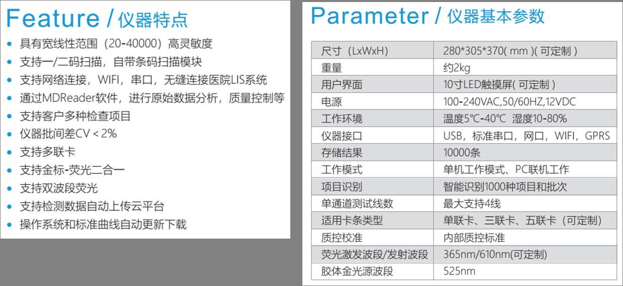 MD-800型多联卡免疫分析仪参数